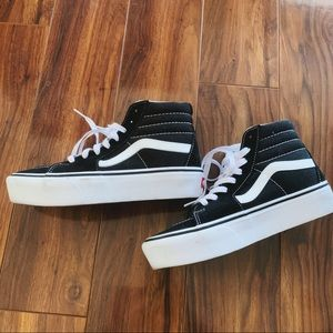 VANS Black Sk8-Hi Shoes